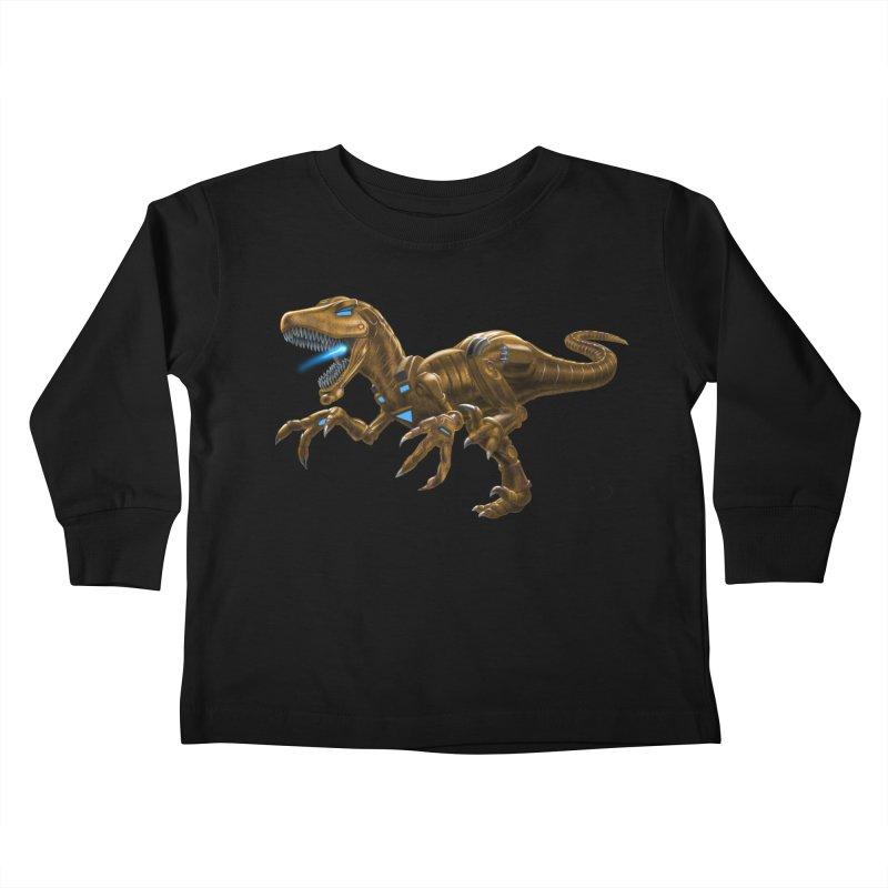 Rusty Robot Raptor Kids Toddler Longsleeve T-Shirt by Ayota Illustration Shop