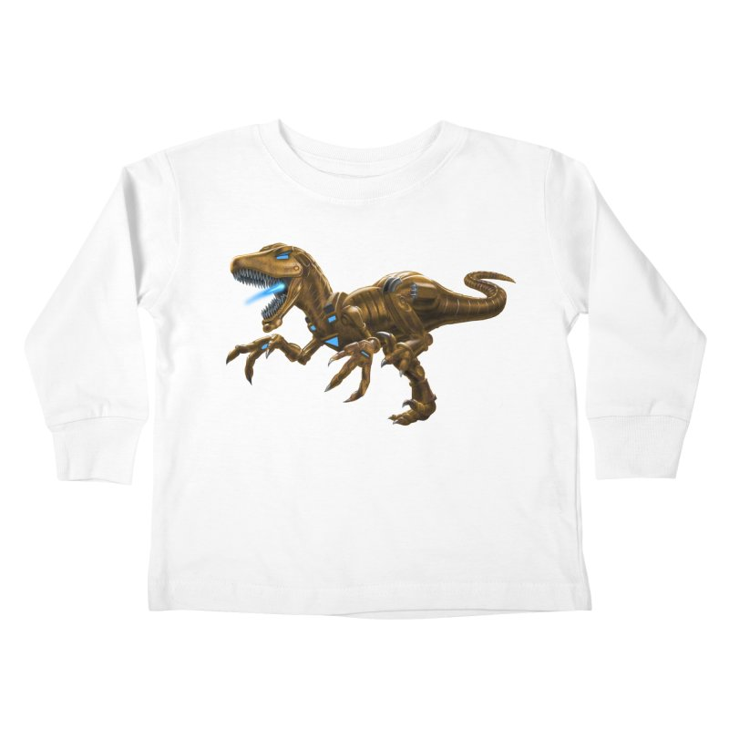 Rusty Robot Raptor Kids Toddler Longsleeve T-Shirt by Ayota Illustration Shop