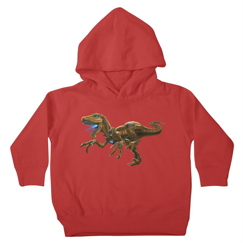 Rusty Robot Raptor Kids Toddler Pullover Hoody by Ayota Illustration Shop