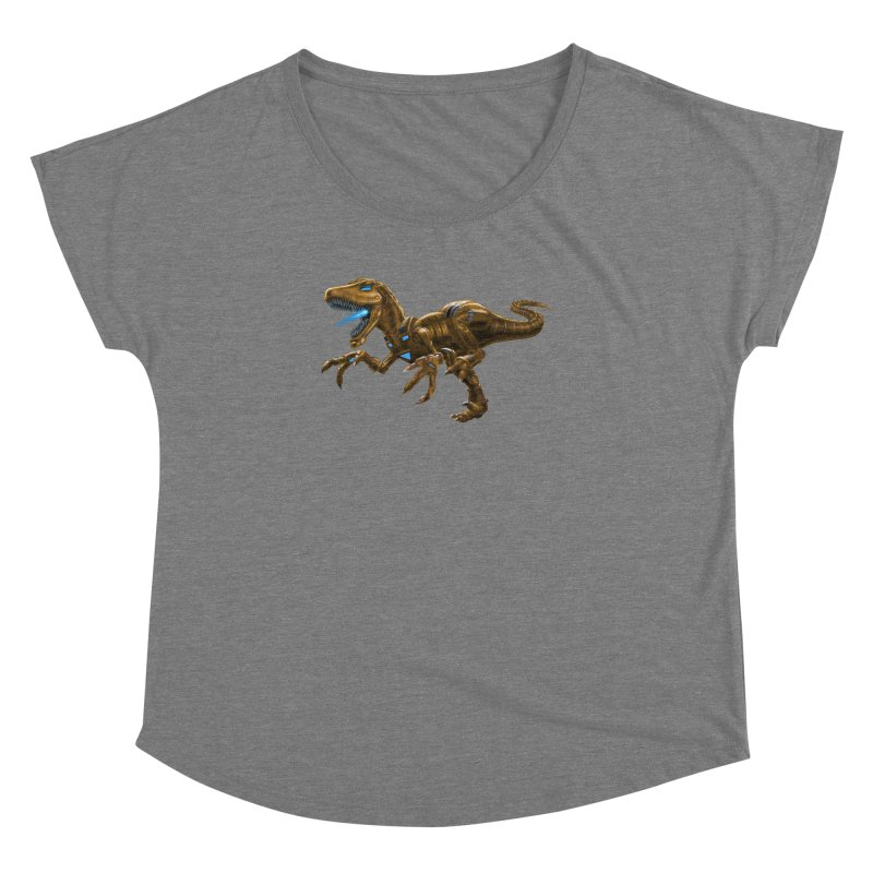 Rusty Robot Raptor Women's Dolman by Ayota Illustration Shop