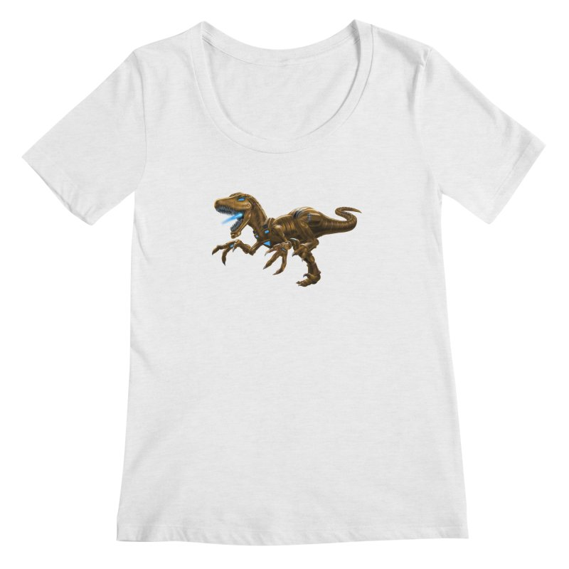 Rusty Robot Raptor Women's Scoop Neck by Ayota Illustration Shop