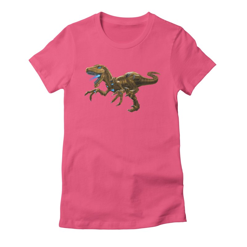 Rusty Robot Raptor Women's T-Shirt by Ayota Illustration Shop