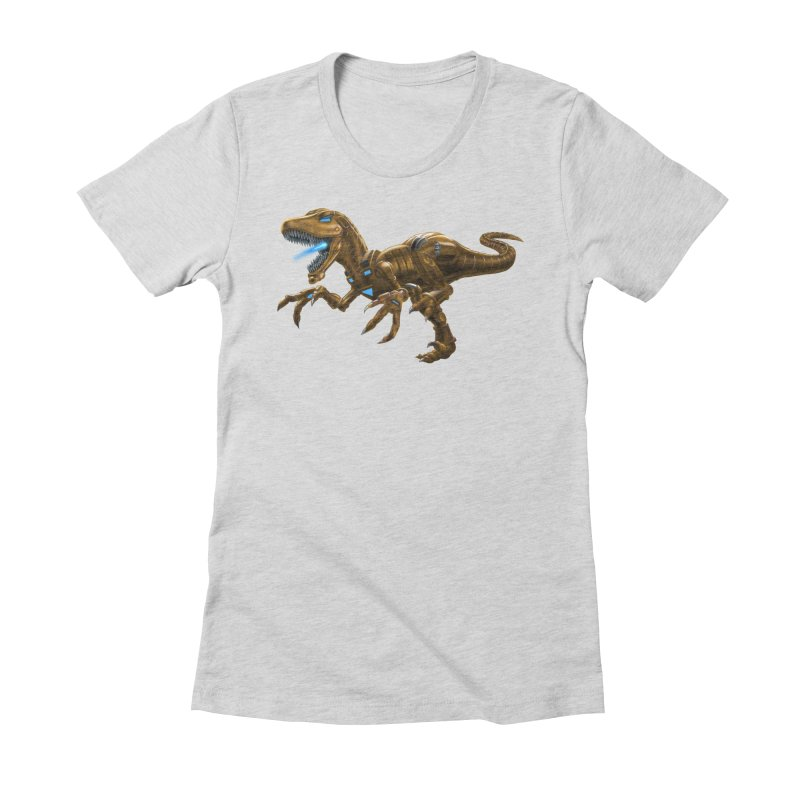 Rusty Robot Raptor Women's Fitted T-Shirt by Ayota Illustration Shop