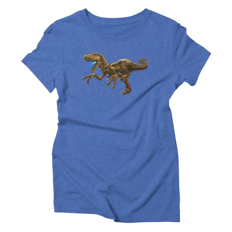 Rusty Robot Raptor Women's Triblend T-Shirt by Ayota Illustration Shop