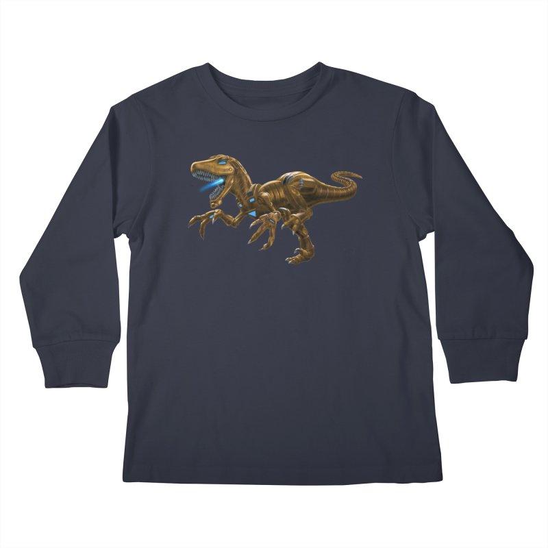 Rusty Robot Raptor Kids Longsleeve T-Shirt by Ayota Illustration Shop