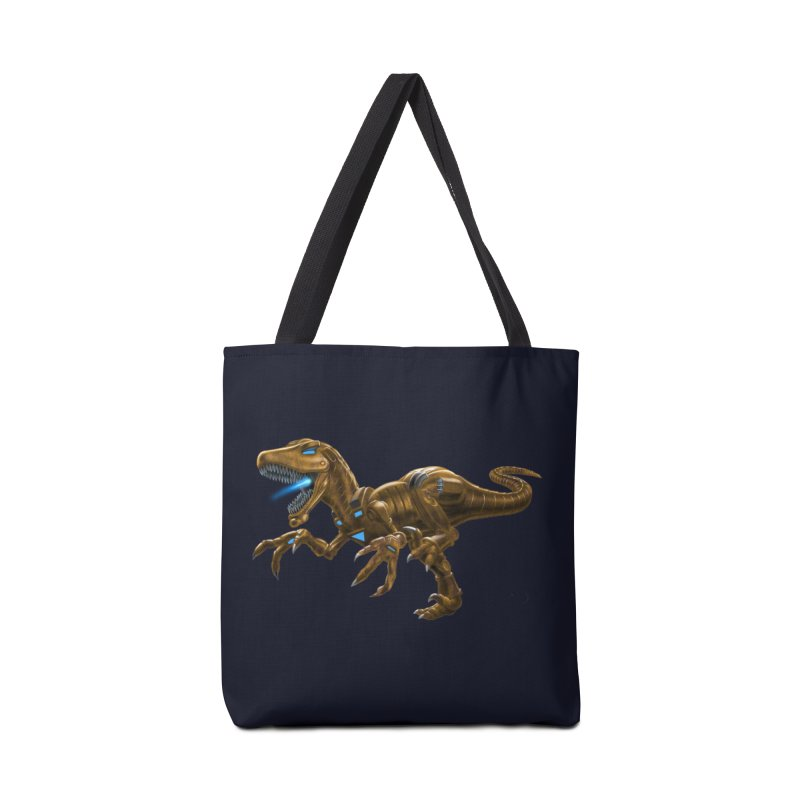 Rusty Robot Raptor Accessories Tote Bag Bag by Ayota Illustration Shop