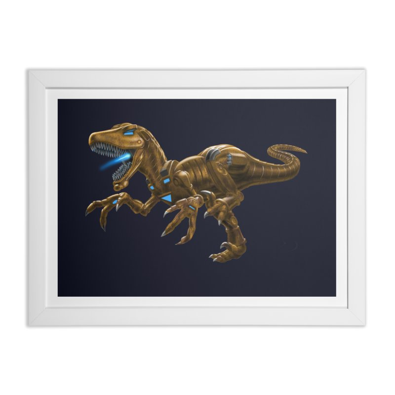 Rusty Robot Raptor Home Framed Fine Art Print by Ayota Illustration Shop