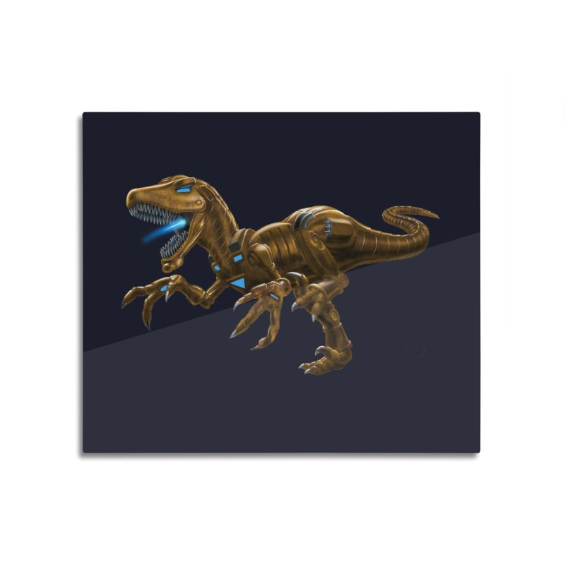 Rusty Robot Raptor Home Mounted Acrylic Print by Ayota Illustration Shop