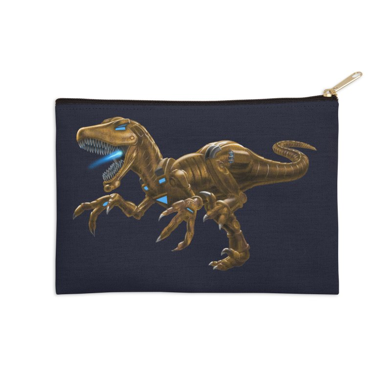Rusty Robot Raptor Accessories Zip Pouch by Ayota Illustration Shop