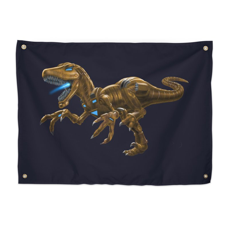 Rusty Robot Raptor Home Tapestry by Ayota Illustration Shop