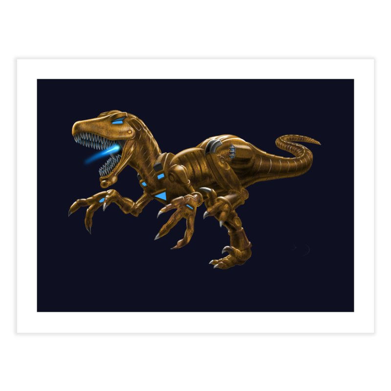 Rusty Robot Raptor Home Fine Art Print by Ayota Illustration Shop