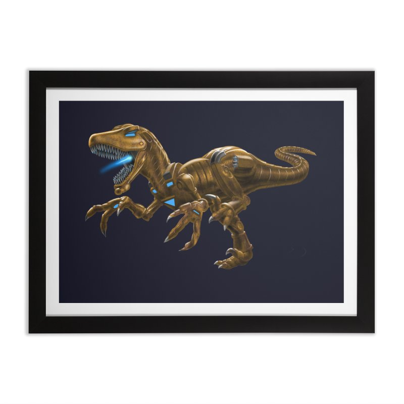 Rusty Robot Raptor Home Framed Fine Art Print by Ayota Illustration Shop