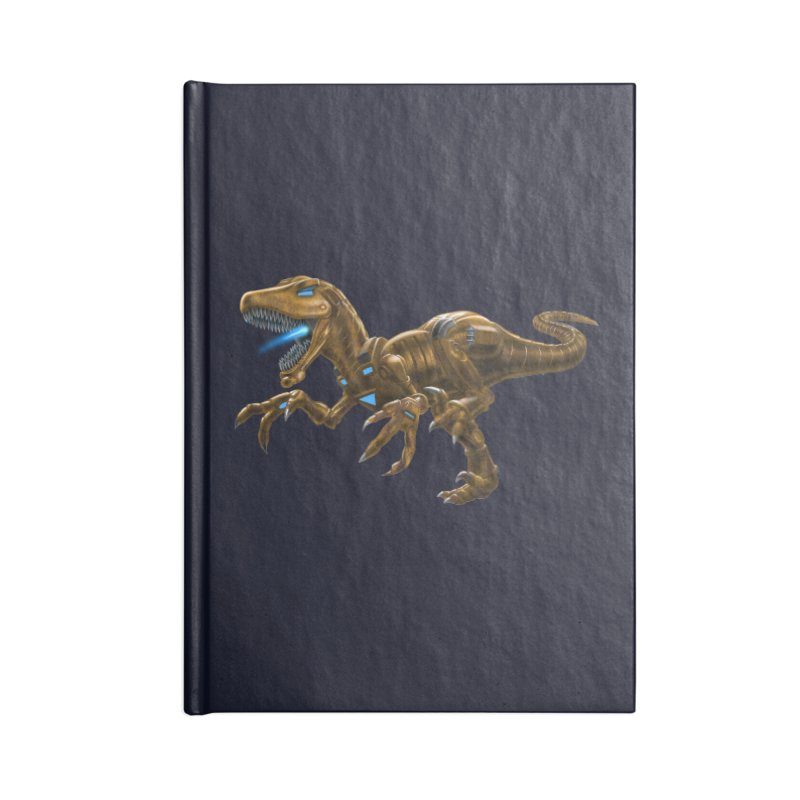 Rusty Robot Raptor Accessories Notebook by Ayota Illustration Shop