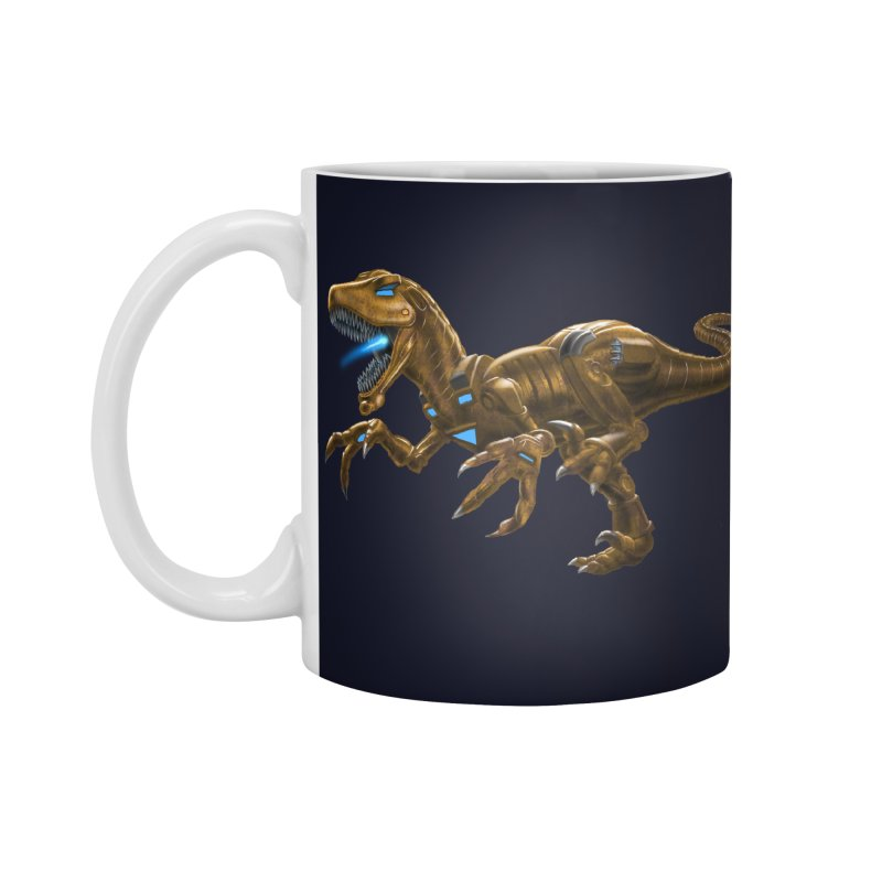 Rusty Robot Raptor Accessories Standard Mug by Ayota Illustration Shop