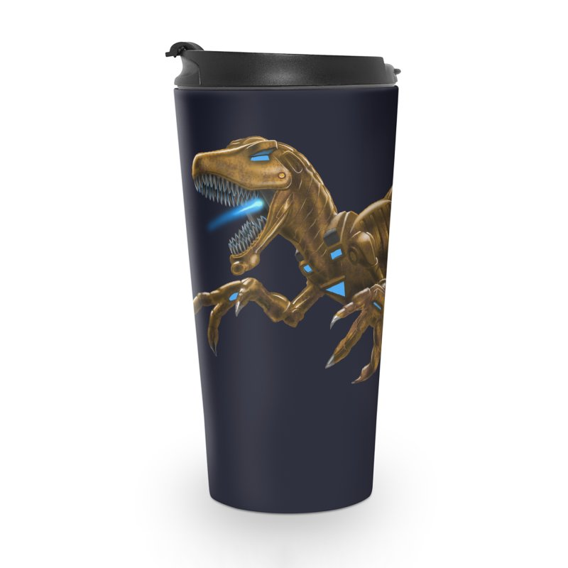 Rusty Robot Raptor Accessories Travel Mug by Ayota Illustration Shop