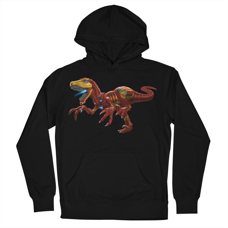 Iron Raptor Men's French Terry Pullover Hoody by Ayota Illustration Shop
