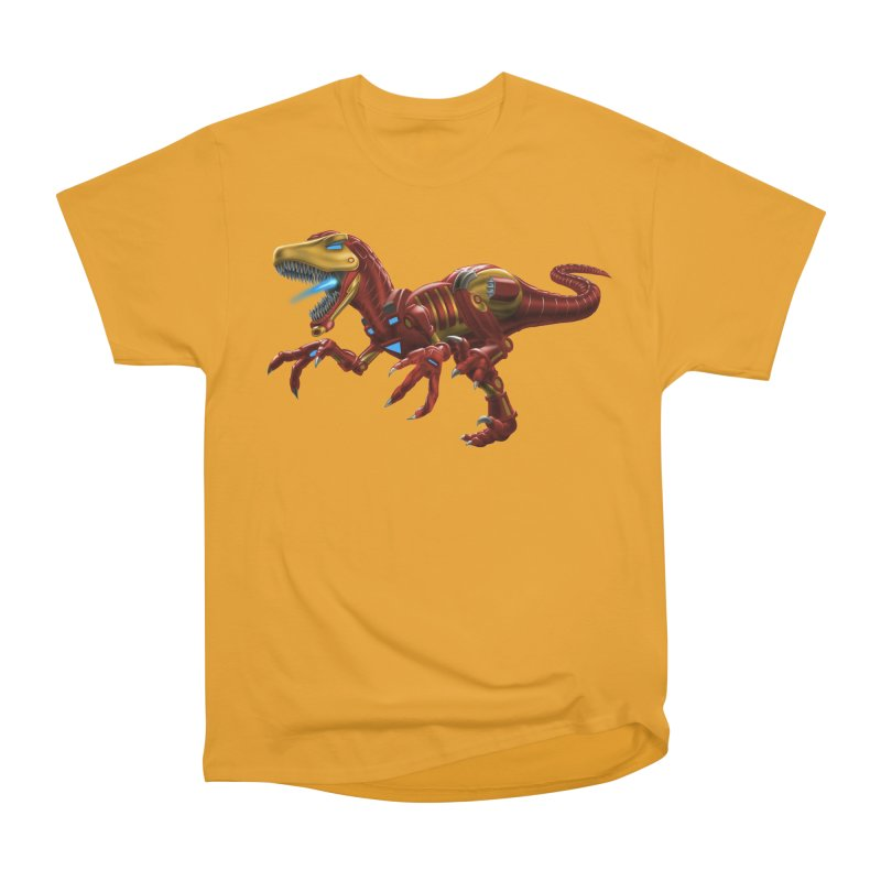 Iron Raptor Men's Heavyweight T-Shirt by Ayota Illustration Shop