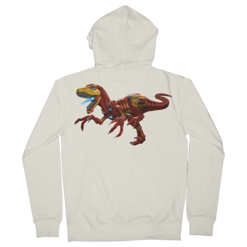 Iron Raptor Women's French Terry Zip-Up Hoody by Ayota Illustration Shop
