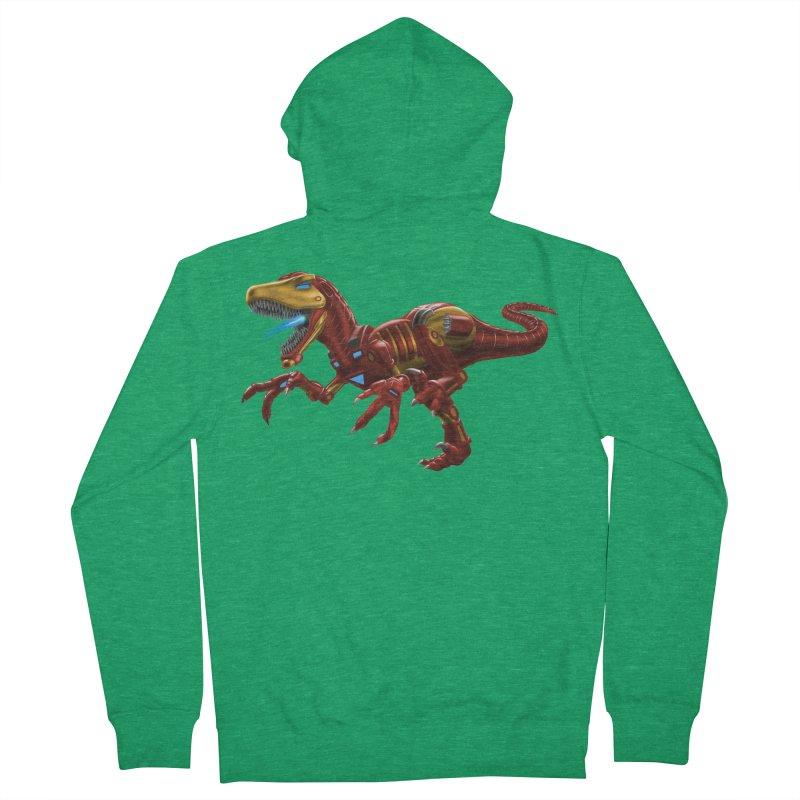 Iron Raptor Men's Zip-Up Hoody by Ayota Illustration Shop