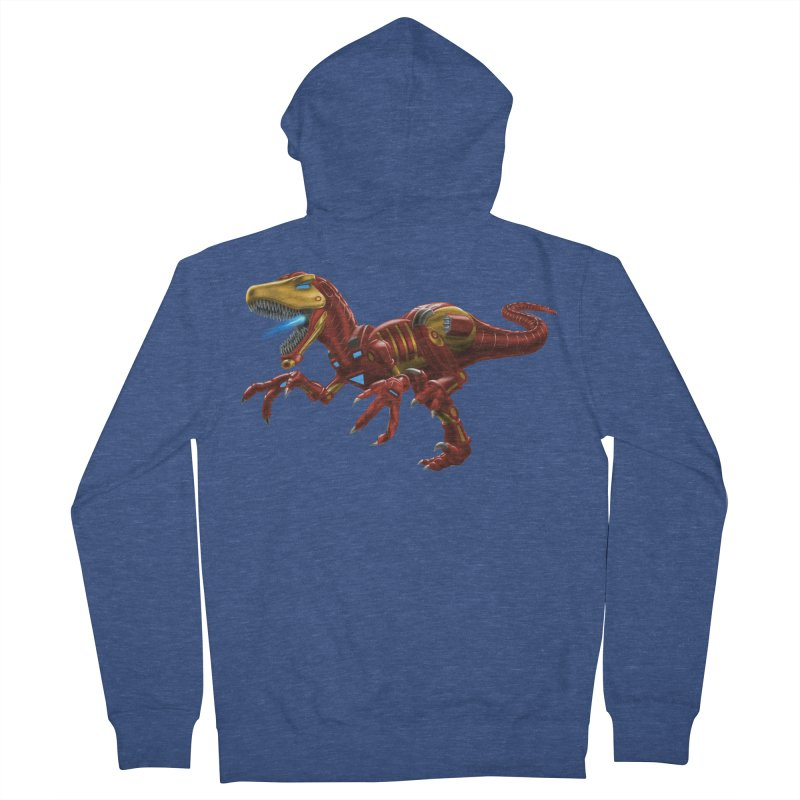 Iron Raptor Men's French Terry Zip-Up Hoody by Ayota Illustration Shop