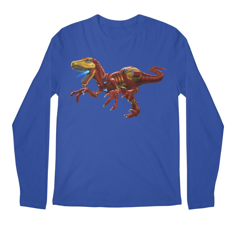 Iron Raptor Men's Regular Longsleeve T-Shirt by Ayota Illustration Shop
