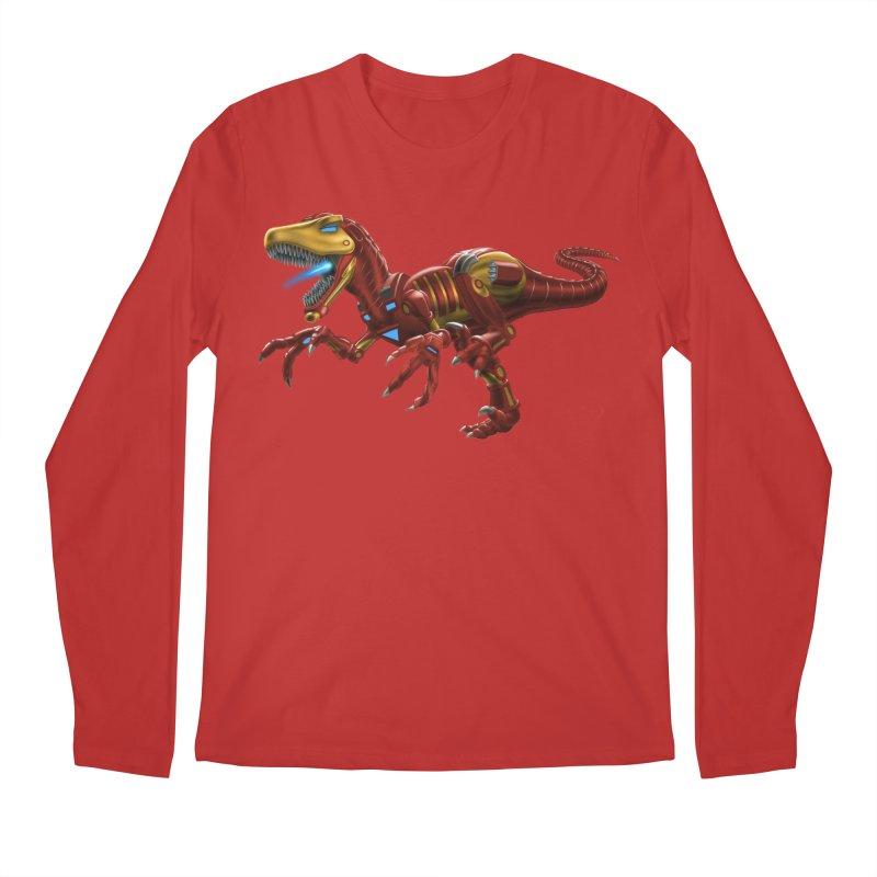 Iron Raptor Men's Regular Longsleeve T-Shirt by Ayota Illustration Shop