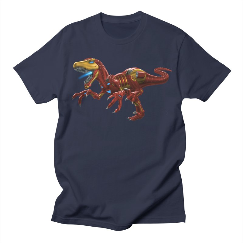 Iron Raptor Men's Regular T-Shirt by Ayota Illustration Shop