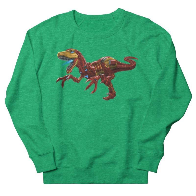 Iron Raptor Women's French Terry Sweatshirt by Ayota Illustration Shop