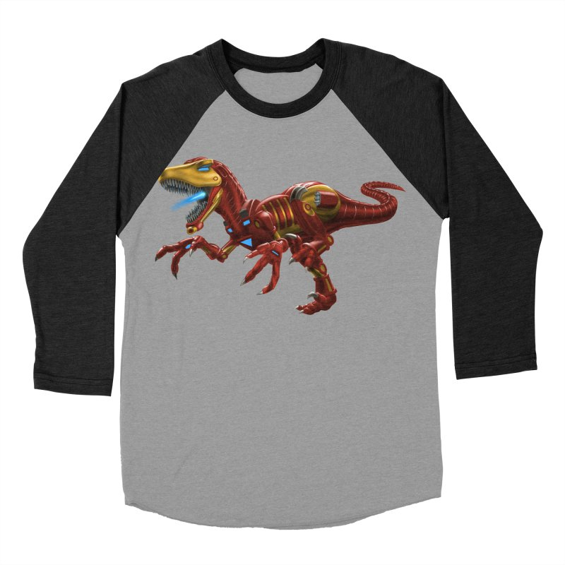 Iron Raptor Men's Baseball Triblend Longsleeve T-Shirt by Ayota Illustration Shop