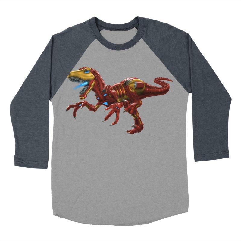 Iron Raptor Men's Baseball Triblend T-Shirt by Ayota Illustration Shop