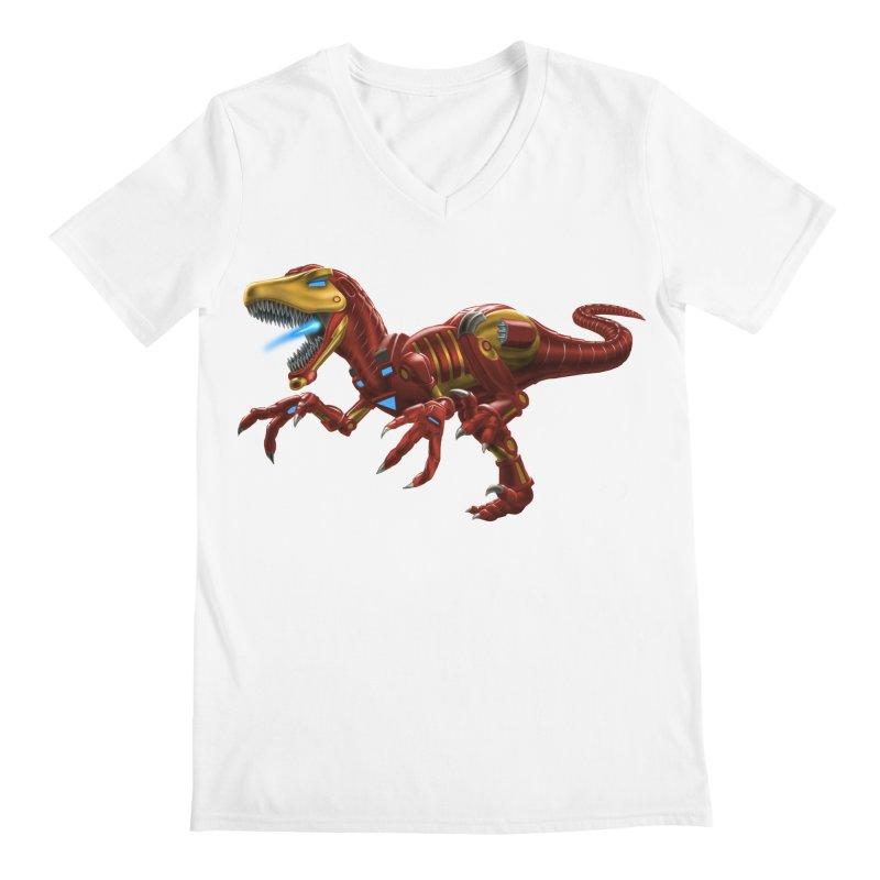 Iron Raptor Men's V-Neck by Ayota Illustration Shop