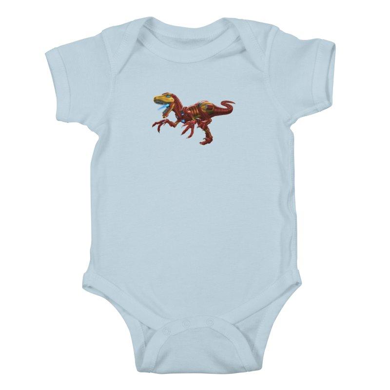 Iron Raptor Kids Baby Bodysuit by Ayota Illustration Shop