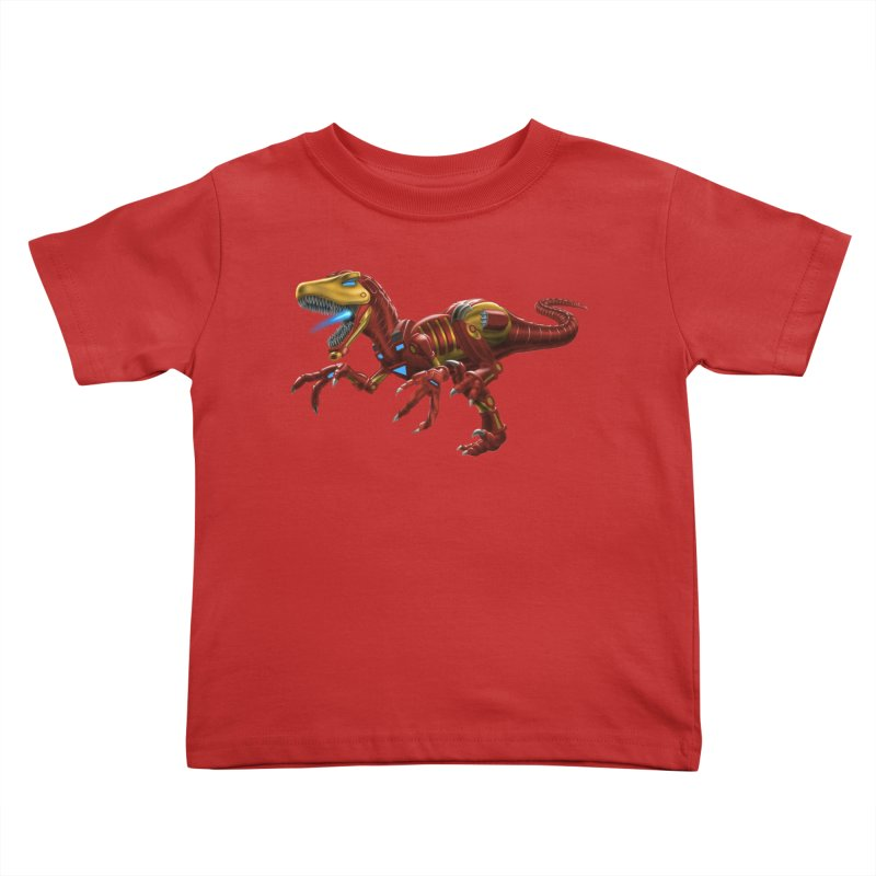Iron Raptor Kids Toddler T-Shirt by Ayota Illustration Shop