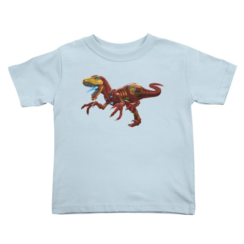 Iron Raptor Kids Toddler T-Shirt by Ayota Illustration Shop