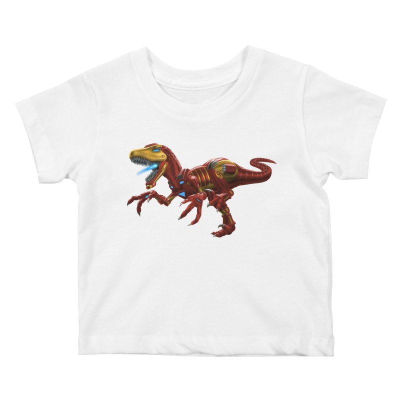 Iron Raptor Kids Baby T-Shirt by Ayota Illustration Shop