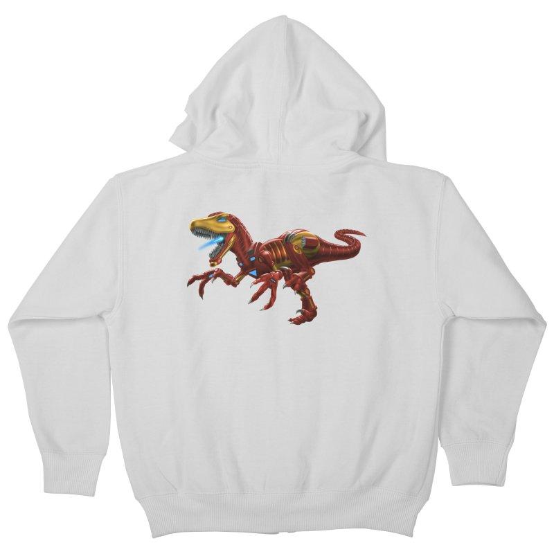 Iron Raptor Kids Zip-Up Hoody by Ayota Illustration Shop
