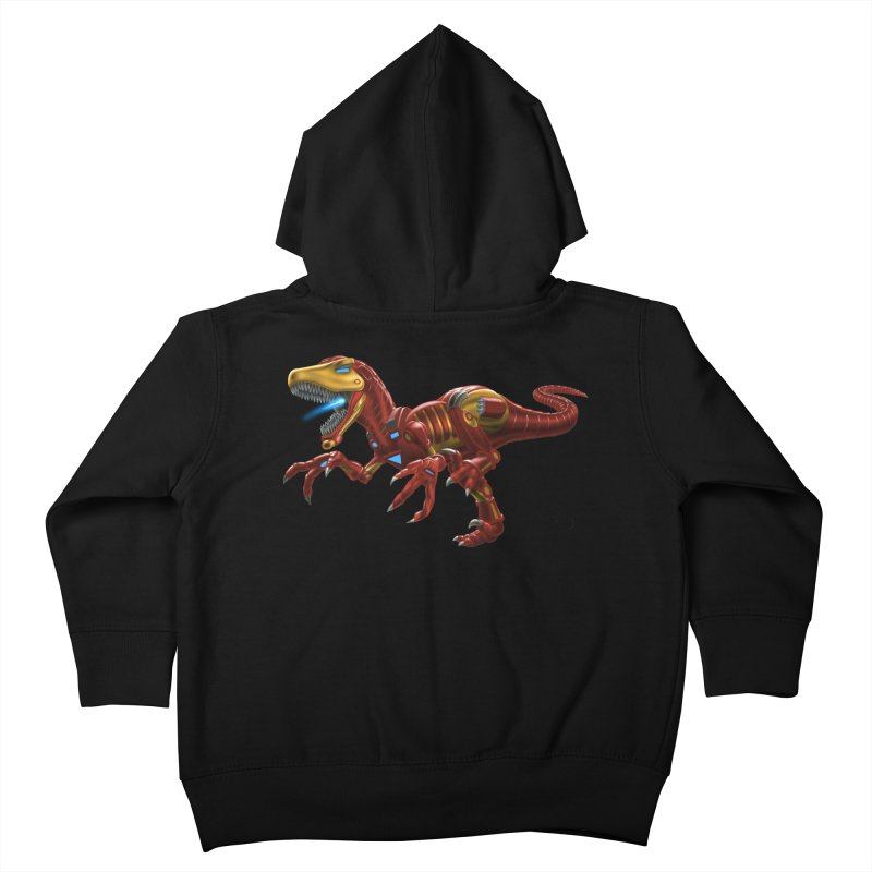 Iron Raptor Kids Toddler Zip-Up Hoody by Ayota Illustration Shop