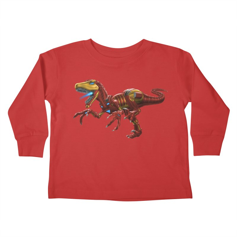 Iron Raptor Kids Toddler Longsleeve T-Shirt by Ayota Illustration Shop