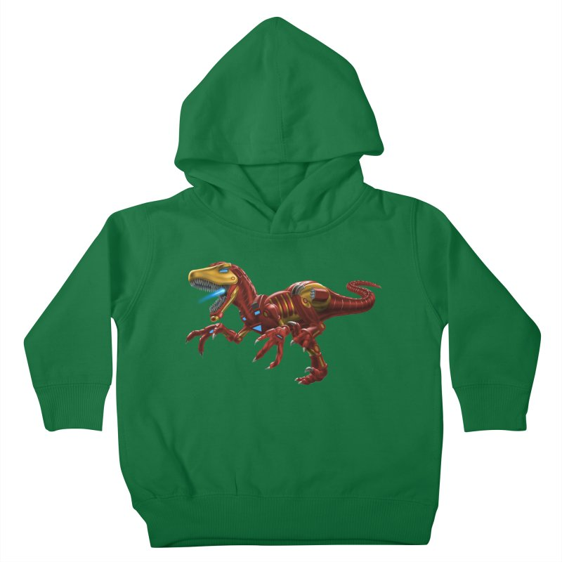Iron Raptor Kids Toddler Pullover Hoody by Ayota Illustration Shop