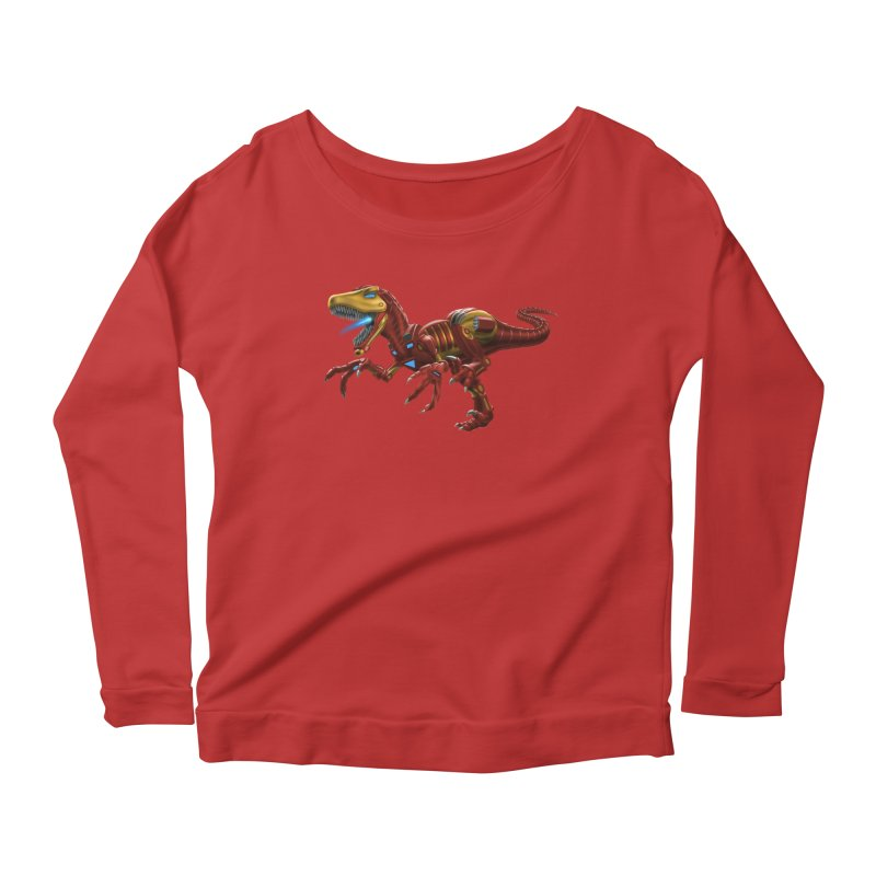 Iron Raptor Women's Scoop Neck Longsleeve T-Shirt by Ayota Illustration Shop