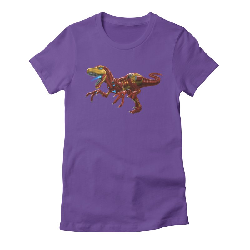 Iron Raptor Women's Fitted T-Shirt by Ayota Illustration Shop