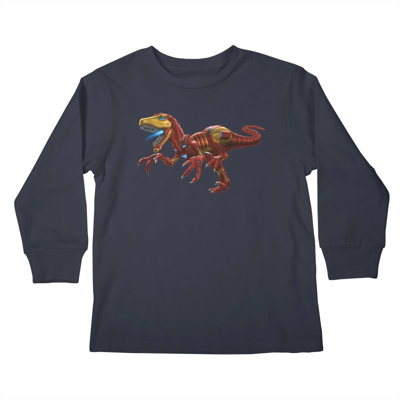 Iron Raptor Kids Longsleeve T-Shirt by Ayota Illustration Shop