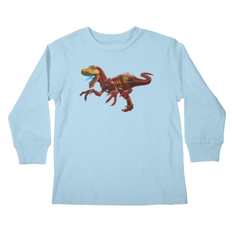 Iron Raptor Kids Longsleeve T-Shirt by Ayota Illustration Shop