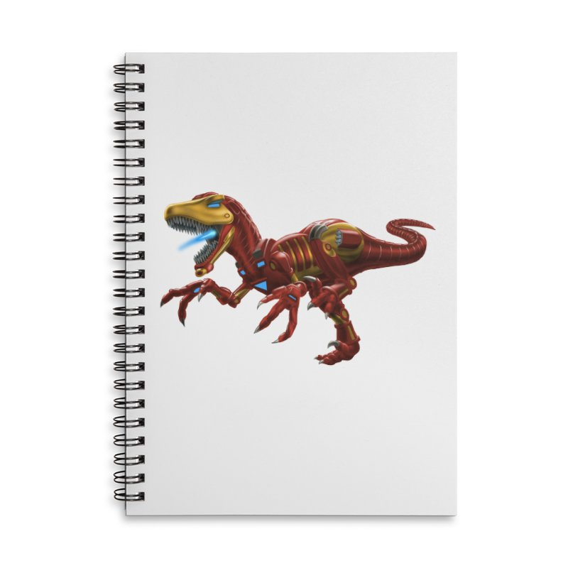 Iron Raptor Accessories Notebook by Ayota Illustration Shop