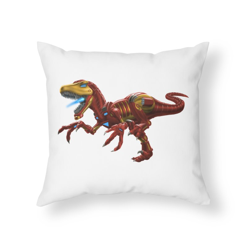 Iron Raptor Home Throw Pillow by Ayota Illustration Shop