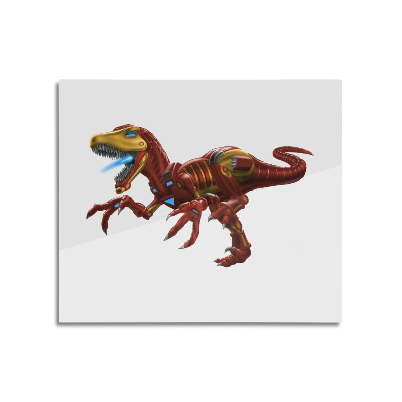 Iron Raptor Home Mounted Aluminum Print by Ayota Illustration Shop
