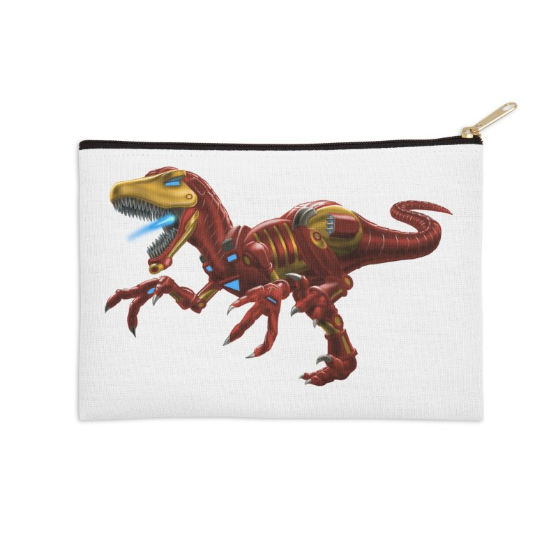Iron Raptor Accessories Zip Pouch by Ayota Illustration Shop