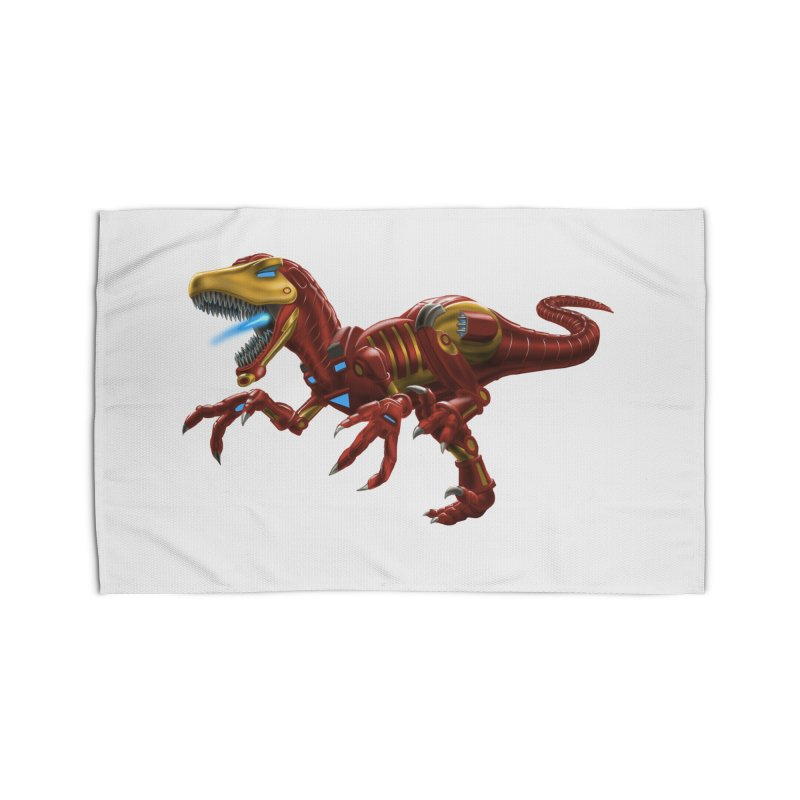 Iron Raptor Home Rug by Ayota Illustration Shop