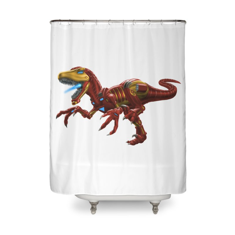 Iron Raptor Home Shower Curtain by Ayota Illustration Shop