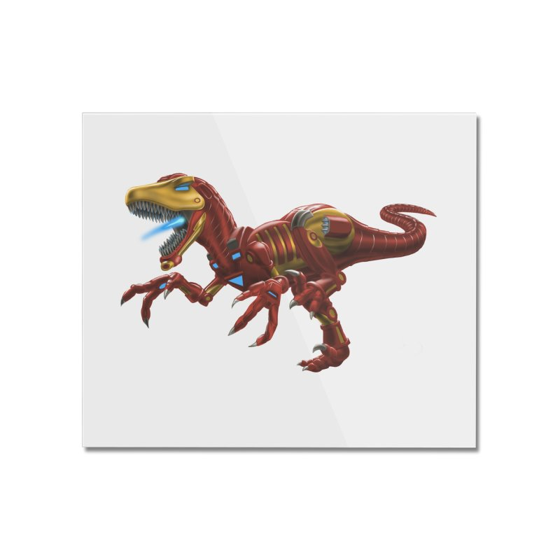 Iron Raptor Home Mounted Acrylic Print by Ayota Illustration Shop